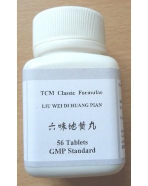 Liu Wei Di Huang Wan,  Six Ingredient Pill with Rehmannia, Rehmannia Six Formula, Six-Flavor Rehmannia Pill, Rehmannia Bolus with Six Herbs, Rehmannia Six Pill